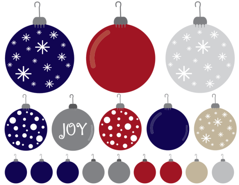Christmas Ornaments Clipart png free, Christmas Ornaments transparent png