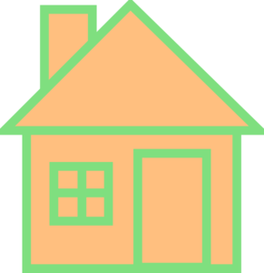 Orange House Clipart png free, Orange House transparent png