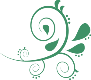 Green Paisley Swirl Clipart png free, Green Paisley Swirl transparent png