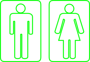 Toilet Outline Green Clipart png free, Toilet Outline Green transparent png
