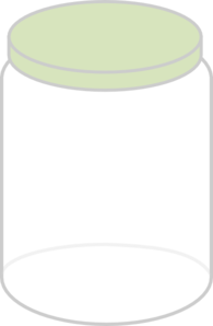 Plain Dream Jar Light Green Clipart png free, Plain Dream Jar Light Green transparent png