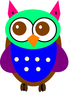 Colorful Baby Owl Clipart png free, Colorful Baby Owl transparent png