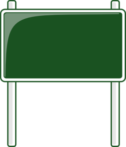 Green Road Sign Clipart png free, Green Road Sign transparent png