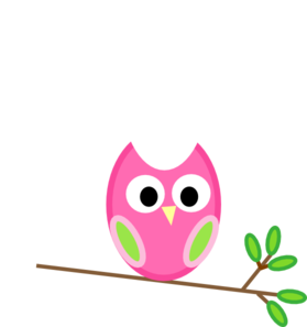 Pink And Green Owl Clipart png free, Pink And Green Owl transparent png