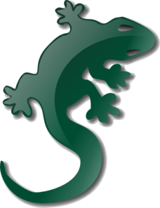 Green Lizard Silhouette Clipart png free, Green Lizard Silhouette transparent png