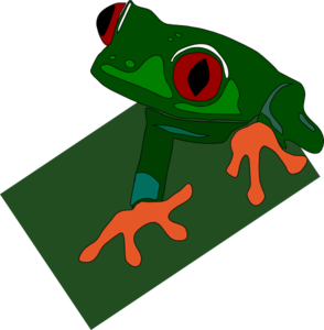 Red Eyed Frog Clipart png free, Red Eyed Frog transparent png