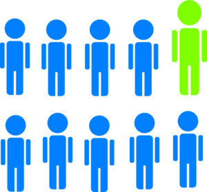 1-In-10 People Statistic Clipart png free, 1-In-10 People Statistic transparent png