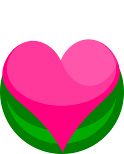 Growing Heart With Leaves Clipart png free, Growing Heart With Leaves transparent png