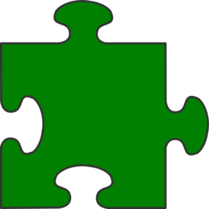 Blue Border Puzzle Piece Top-Green Fill Clipart png free, Blue Border Puzzle Piece Top-Green Fill transparent png