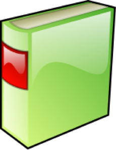 Green Hard Covered Book Clipart png free, Green Hard Covered Book transparent png