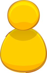 Yellow Computer Person Icon Clipart png free, Yellow Computer Person Icon transparent png
