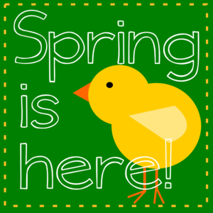 Spring Is Here Green Clipart png free, Spring Is Here Green transparent png