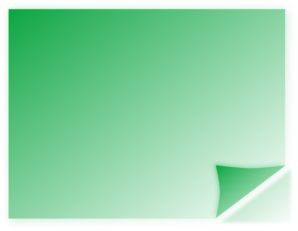 Green Post It Note With Corner Up Clipart png free, Green Post It Note With Corner Up transparent png