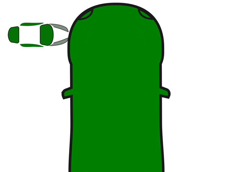 Green Car - Top View Clipart png free, Green Car - Top View transparent png
