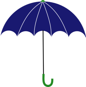 Blue And Green Umbrella Clipart png free, Blue And Green Umbrella transparent png