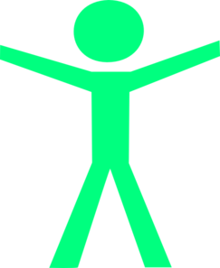 Human Figure Hands Open Green Clipart png free, Human Figure Hands Open Green transparent png