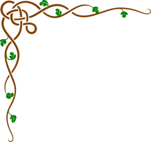 Brown Celtic Vine W/Green Leaves Clipart png free, Brown Celtic Vine W/Green Leaves transparent png
