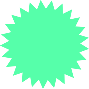 Green Sun Star Clipart png free, Green Sun Star transparent png