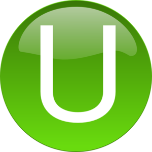 Green U Clipart png free, Green U transparent png