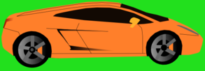 Orange Car (Green Background) Clipart png free, Orange Car (Green Background) transparent png