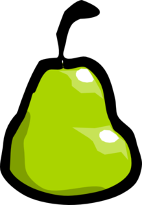 Cartoon Pear Clipart png free, Cartoon Pear transparent png