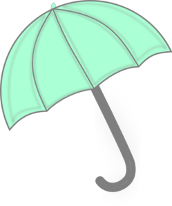 Mint Green Umbrella Clipart png free, Mint Green Umbrella transparent png
