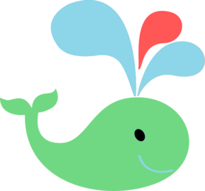 Green Red Blue Whale Clipart png free, Green Red Blue Whale transparent png