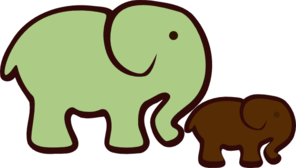 Elephant Mom & Baby Clipart png free,  Elephant Mom & Baby transparent png