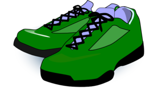 Forest Green Tennis Shoes Clipart png free, Forest Green Tennis Shoes transparent png