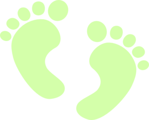 Baby Feet Green Clipart png free, Baby Feet Green transparent png