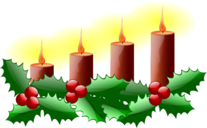Lit Advent Candles Clipart png free, Lit Advent Candles transparent png