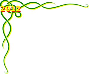 Celtic Green Yellow Scroll Border 2012 Clipart png free, Celtic Green Yellow Scroll Border 2012 transparent png