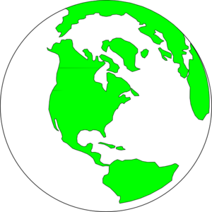 Earth With White And Green Clipart png free, Earth With White And Green transparent png