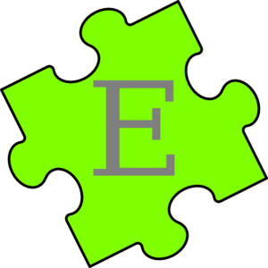 Puzzle Piece Green E Clipart png free, Puzzle Piece Green E transparent png