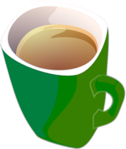 Purple-Green Coffee Tea Mug Clipart png free, Purple-Green Coffee Tea Mug transparent png