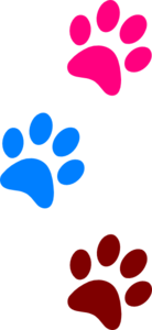 Paws Red Blue Green 1 Clipart png free, Paws Red Blue Green 1 transparent png