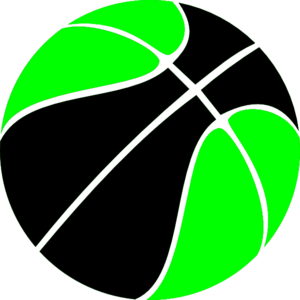 Green And Black Basketball Clipart png free, Green And Black Basketball transparent png