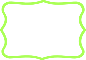 Frame Green White Clipart png free, Frame Green White transparent png