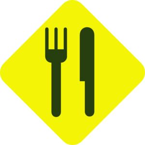 Yellow And Green Knife And Fork Diagonal Clipart png free, Yellow And Green Knife And Fork Diagonal transparent png