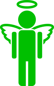 Green Angel Clipart png free, Green Angel transparent png