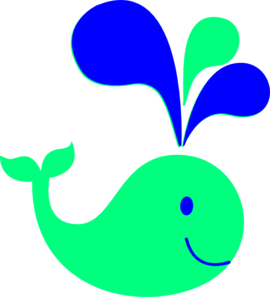 Whale Blue Green Clipart png free, Whale Blue Green transparent png