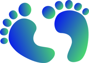 Blue & Green Baby Feet Clipart png free, Blue & Green Baby Feet transparent png