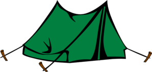 Green Tent Clipart png free, Green Tent transparent png