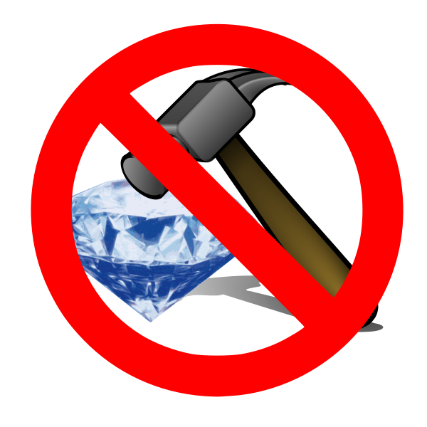 No Breaking A Diamond With A Hammer Clipart png free, No Breaking A Diamond With A Hammer transparent png