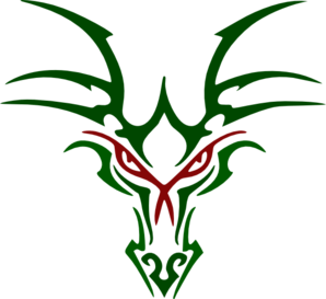 Greener Dragon Head Clipart png free, Greener Dragon Head transparent png