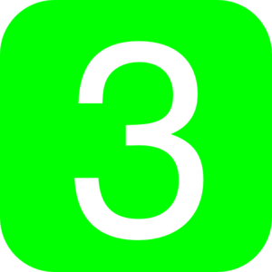 Green, Rounded, Square With Number 3 Clipart png free, Green, Rounded, Square With Number 3 transparent png
