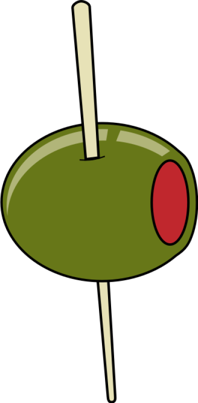 Green Olive On A Toothpick Clipart png free, Green Olive On A Toothpick transparent png