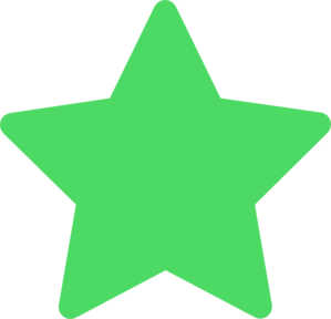 Star Green Favorite Clipart png free, Star Green Favorite transparent png