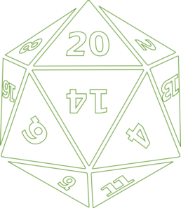 Twenty-Sided Dice Clipart png free, Twenty-Sided Dice transparent png