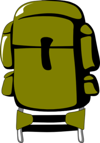 Army Green Backpack Clipart png free, Army Green Backpack transparent png